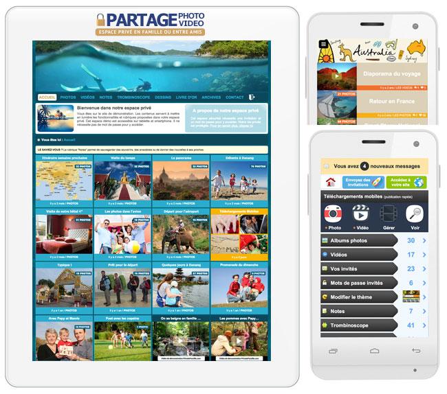 application de partage photo video pour