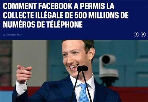 Comment Facebook a permis la collecte illégale de 500 millions de numéros de téléphone
